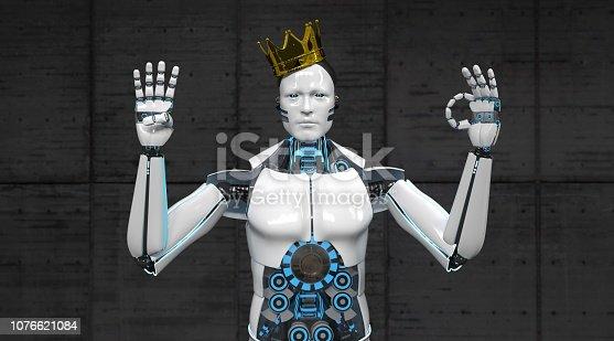 istock Robot King Fingers 40 1076621084