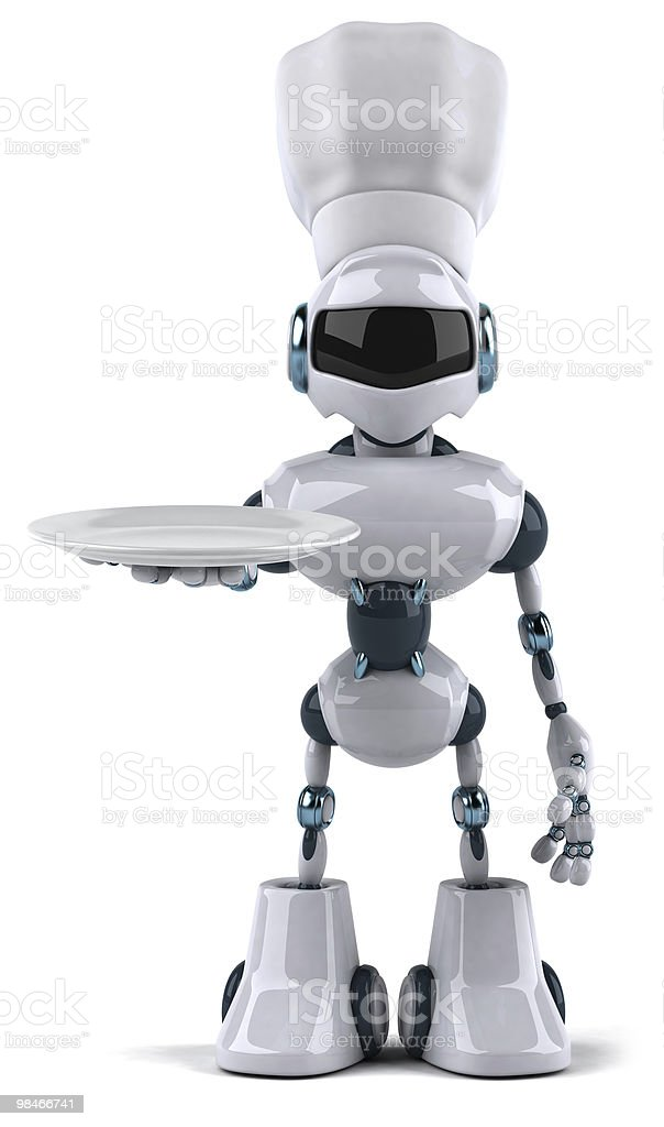 Chef robot royalty-free stock photo