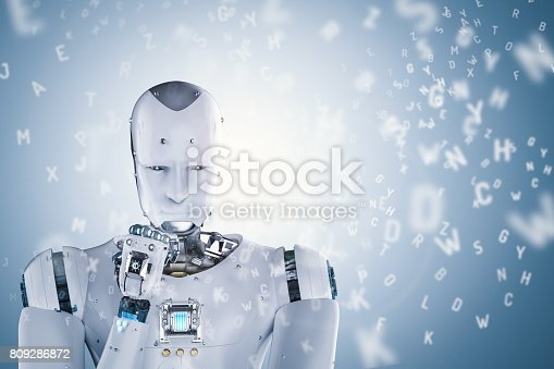 istock robot learning or machine learning 809286872