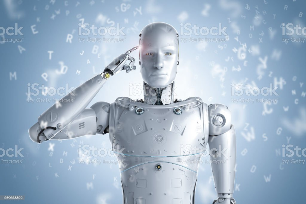 Robot Learning Or Machine Learning Stock Photo More Pictures Of