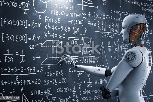 istock robot learning or solving problems 828241448