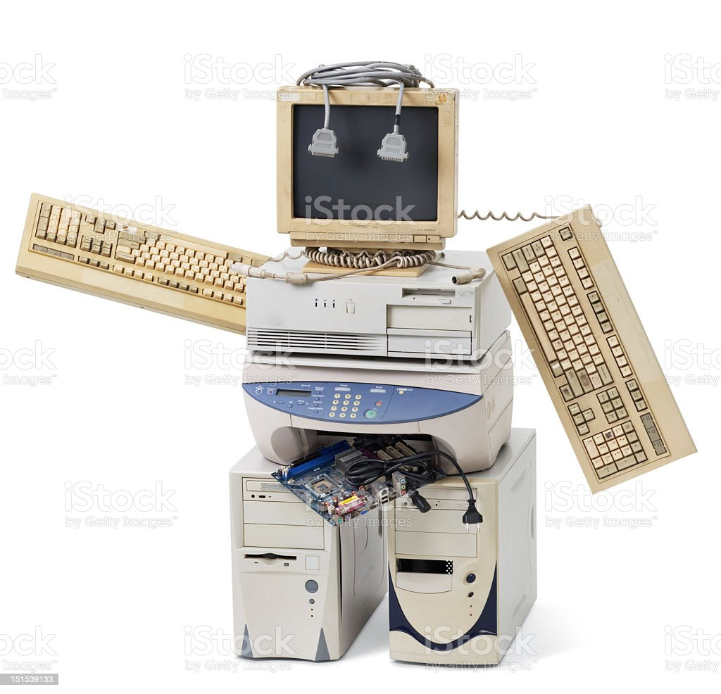 Old Computer Parts Components Stock Photo Picture And Circuitboardclockjpg A Robot Made Of More Pictures
