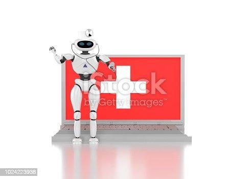robot medik 3d render.
