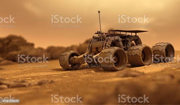 Robot De Seres Humanos A Marte Foto de stock y más banco de imágenes de 2015