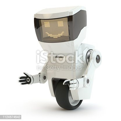 modern robot, white background