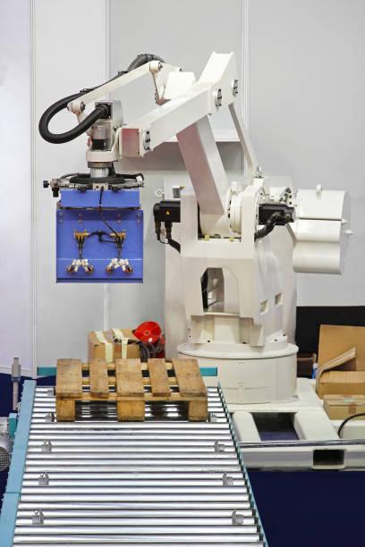 Robot Palletizer stock photo