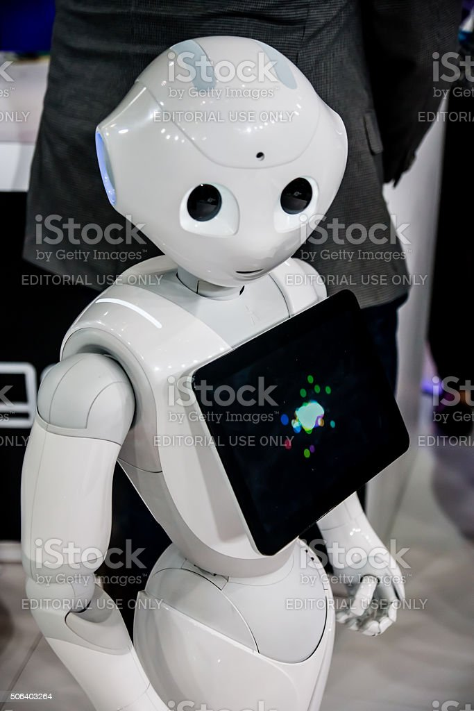 2016 CES Robot stock photo