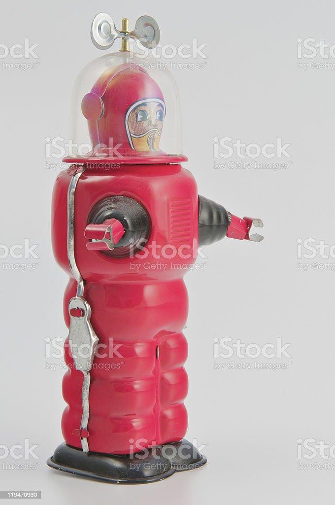 Robot vista posteriore - foto stock