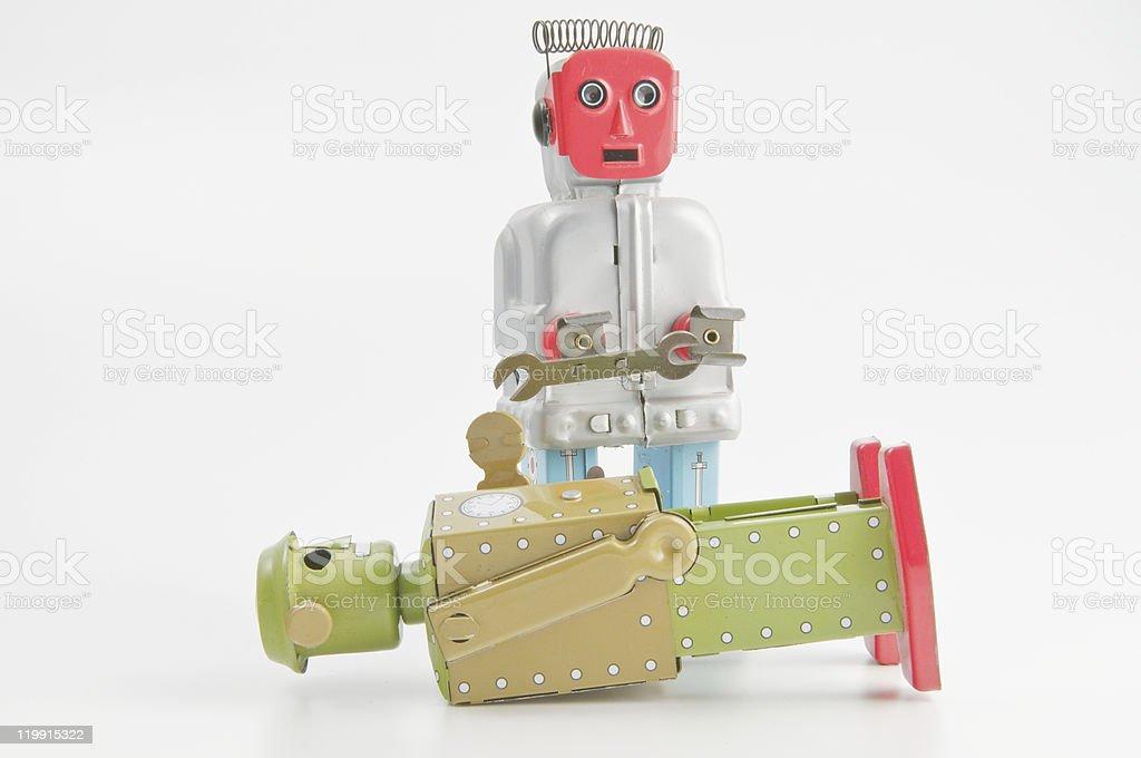 Riparatore di robot - foto stock