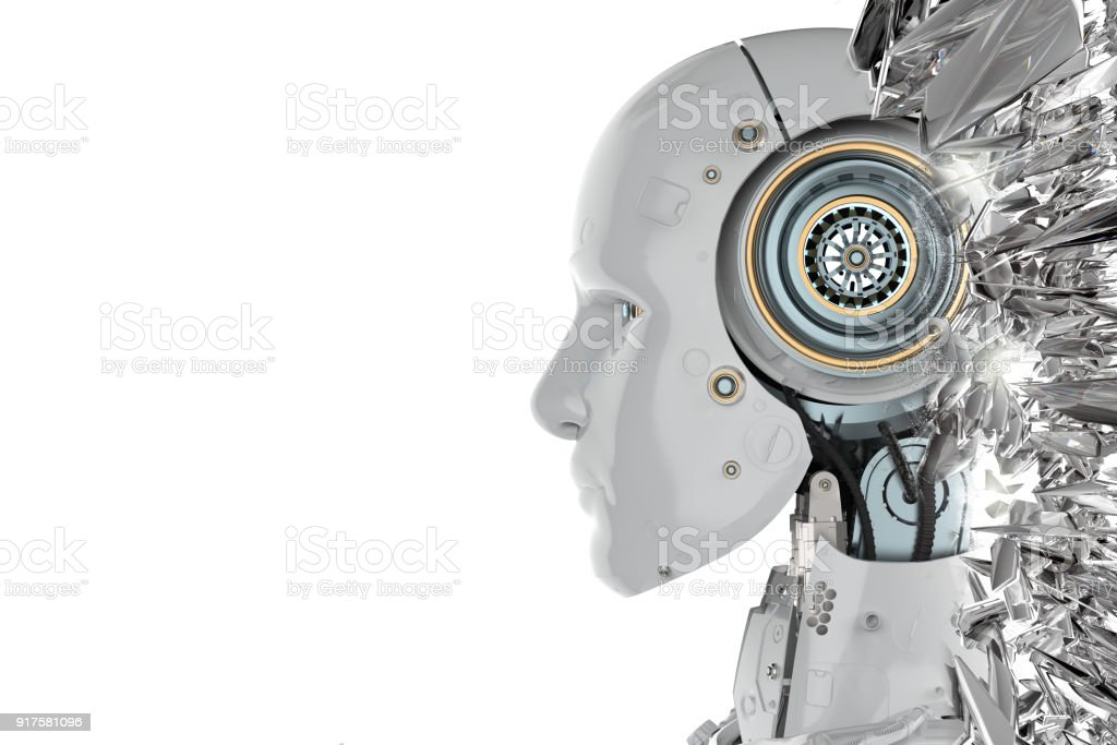 robot side view stock photo