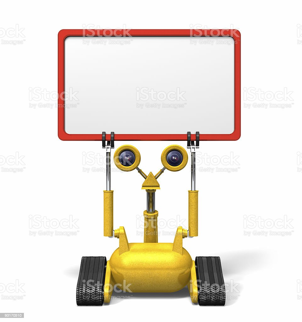 Robot Sign royalty-free stock photo