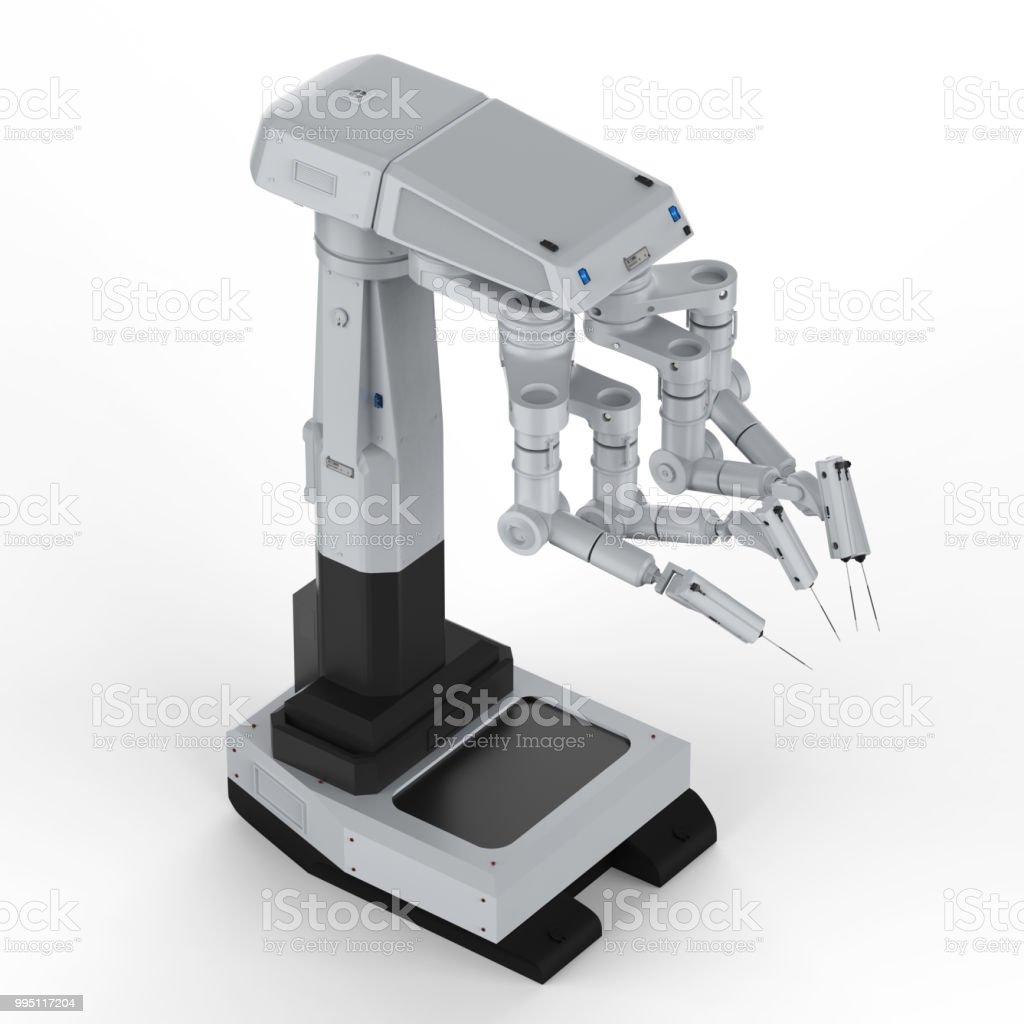 로봇 수술 기계 스톡 사진