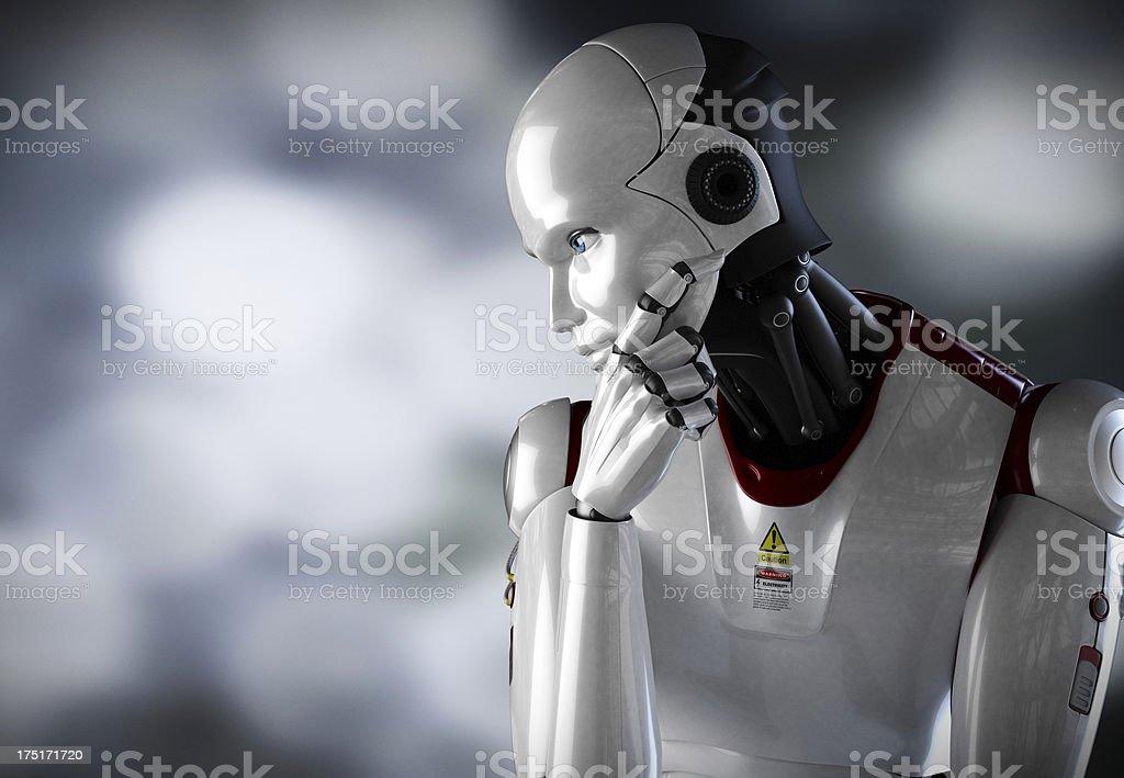 Robot Thinking close up 2 foto