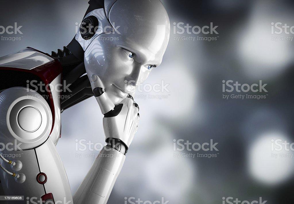Robot penser gros plan - Photo de Affaires libre de droits