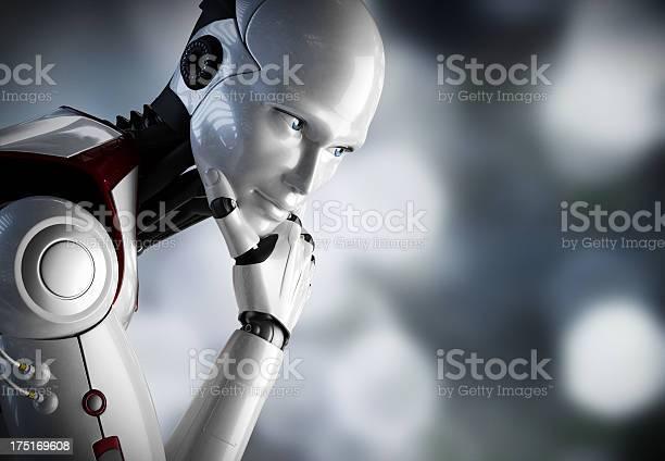 Photo libre de droit de Robot Penser Gros Plan banque d'images et plus d'images libres de droit de Affaires