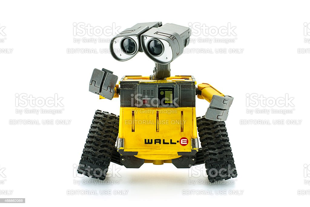WALL-E robot toy character form WALL-E animation film Bangkok,Thailand - March 1, 2015: WALL-E robot toy character form WALL-E animation film by Disney Pixar Studio. 2015 Stock Photo