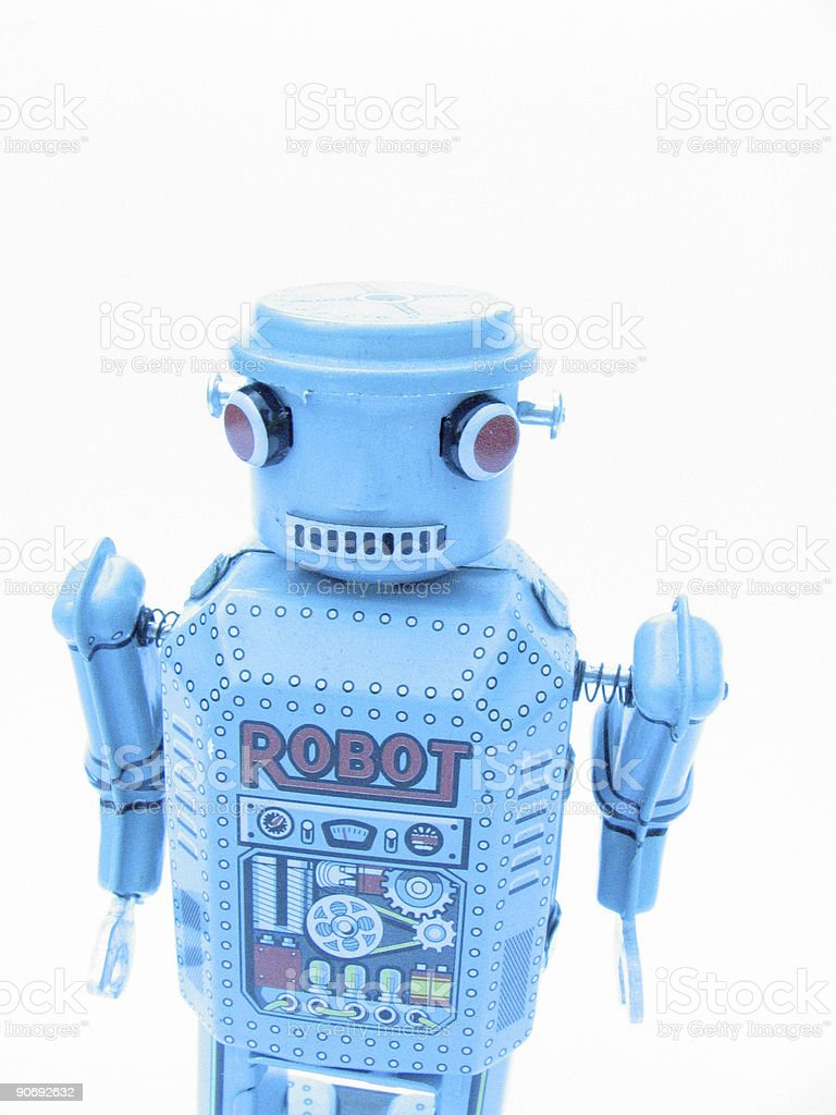 Robot toy royalty-free stock photo
