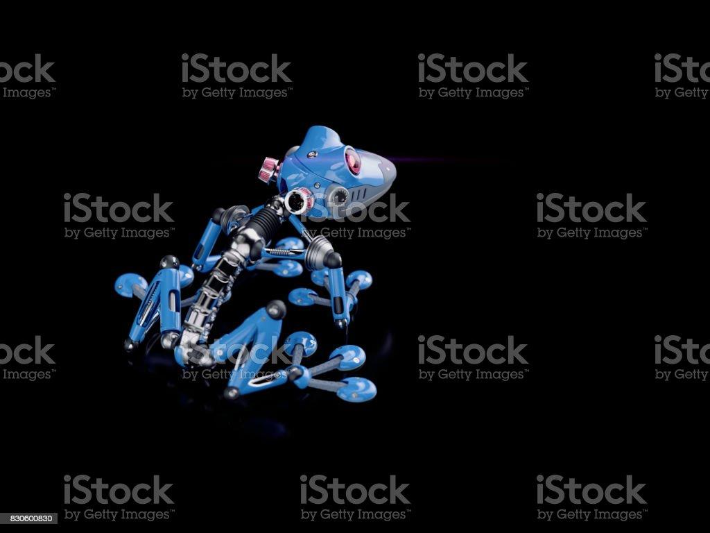 Robot klimmende foto