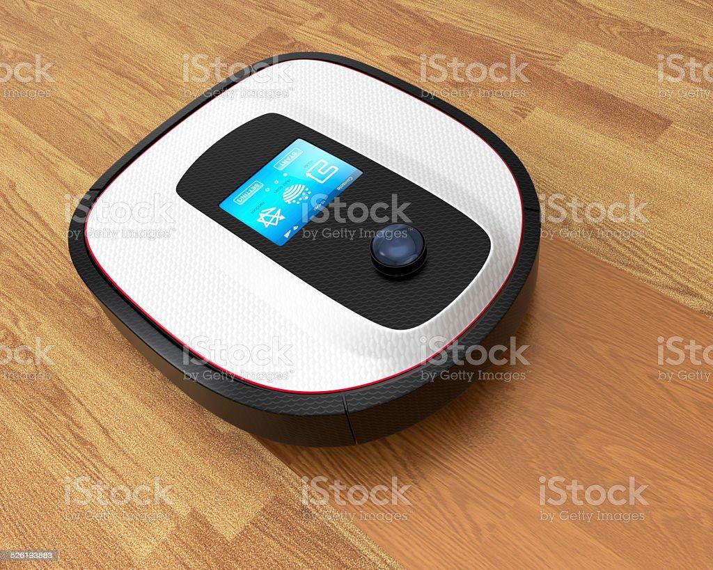 Fußboden Roboter ~ Roboter staubsauger die auf fußboden stockfoto istock