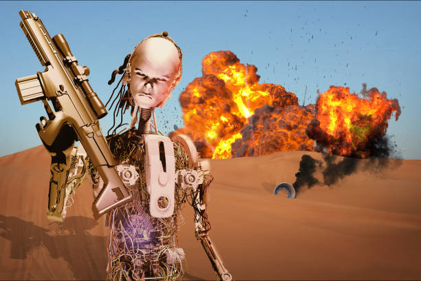 robot warrior - killer stock pictures, royalty-free photos & images