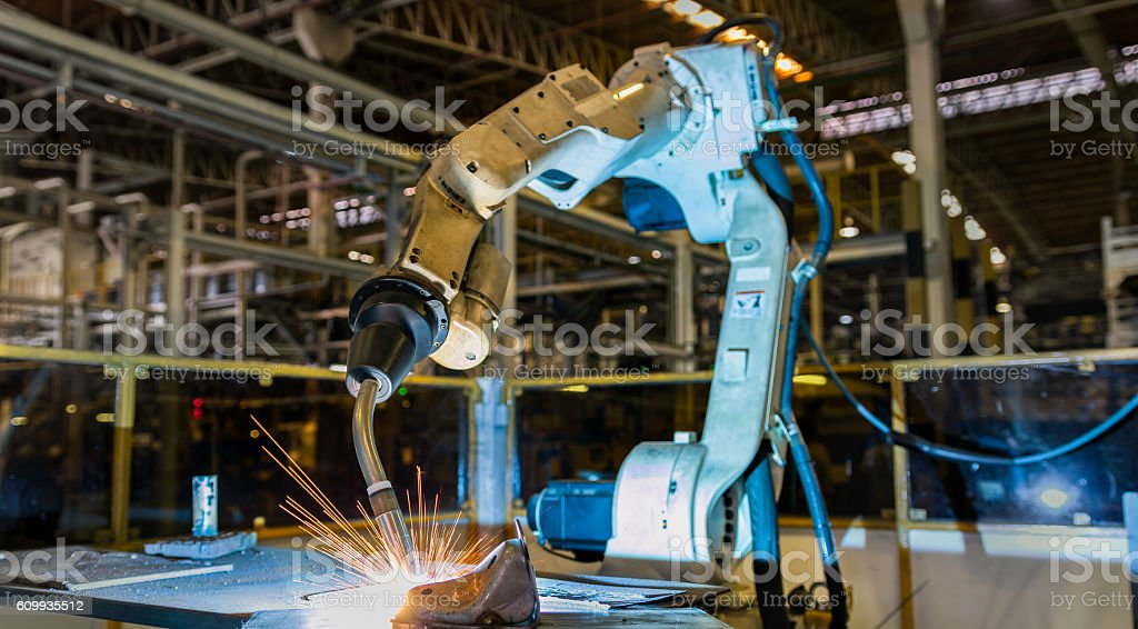 robot welding stock photo