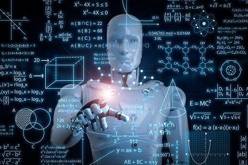 istock robot with education hud 941054744