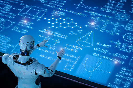 istock robot with education hud 950196458