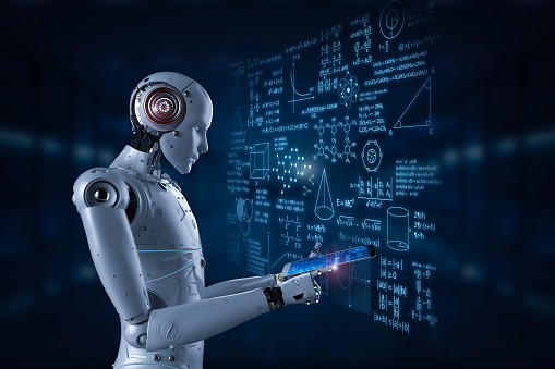 istock robot with education hud 958259766