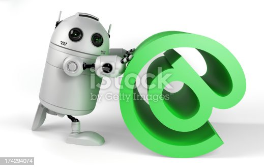 521048154 istock photo Robot With Email Sign 174294074