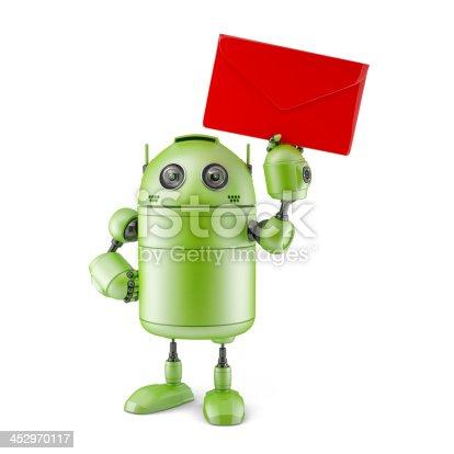 521048154 istock photo Robot with envelope. 452970117