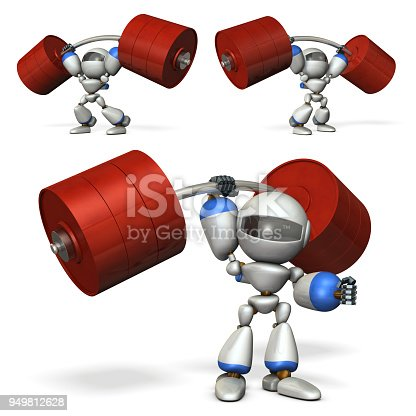 istock A robot with great power. He is weight lifting. 949812628