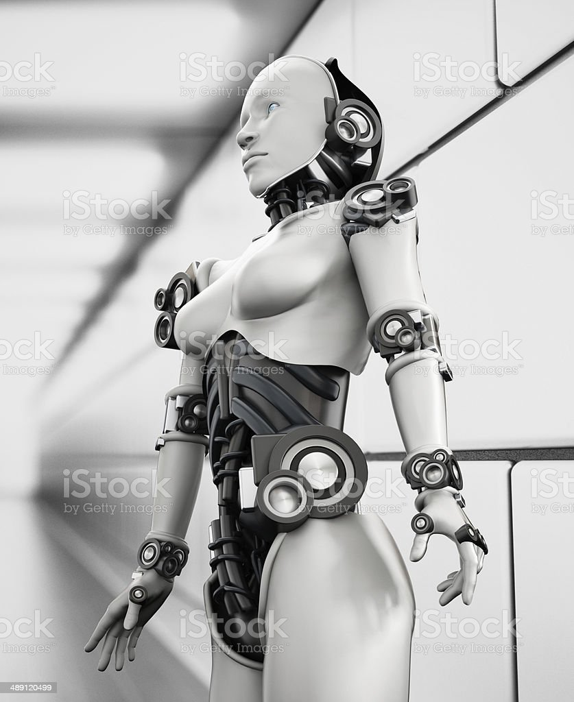 Robot woman stock photo