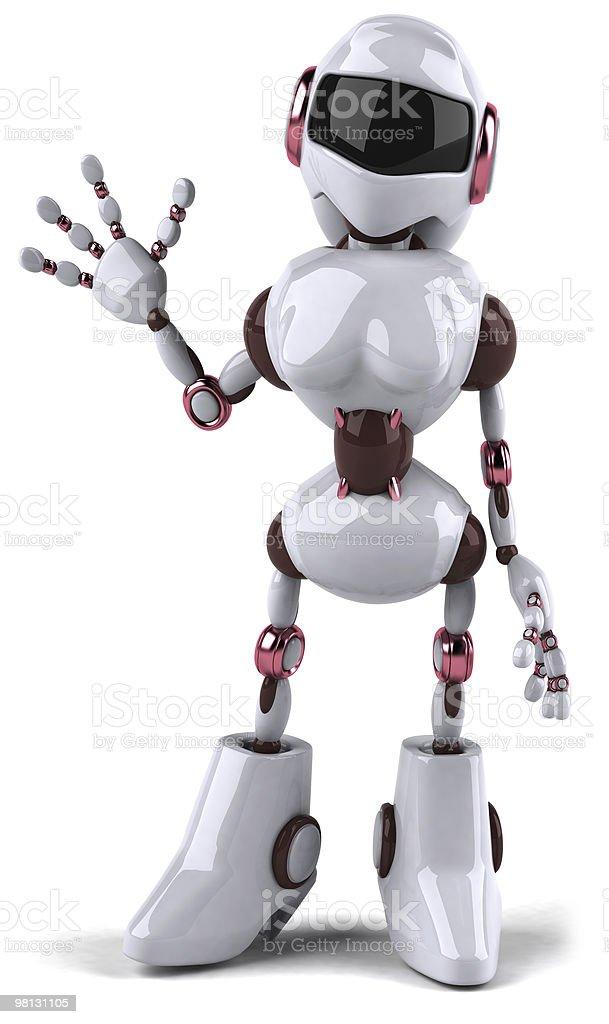 Robot woman royalty-free stock photo