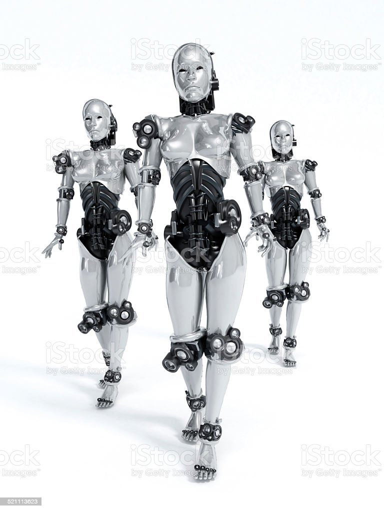 Robot women stock photo