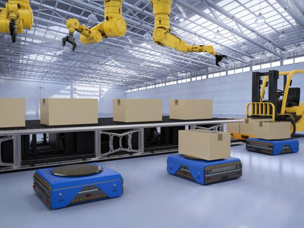 robot arbetsflöde - delivery robot bildbanksfoton och bilder