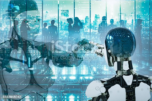 956891284 istock photo AI robot working 1143848242