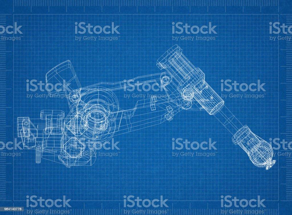 Roboterarm-Architekt-Entwurf – Foto