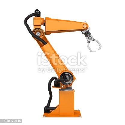 istock Robotic Arm Isolated 1045170110