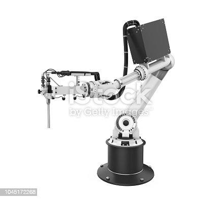 istock Robotic Arm Isolated 1045172268