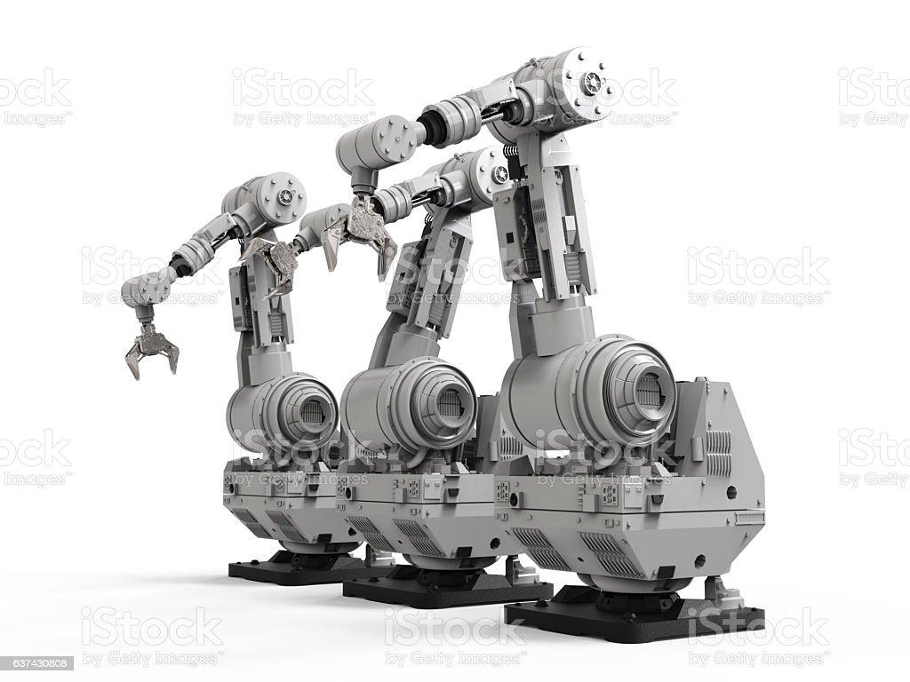 robotic arm on white background – Foto