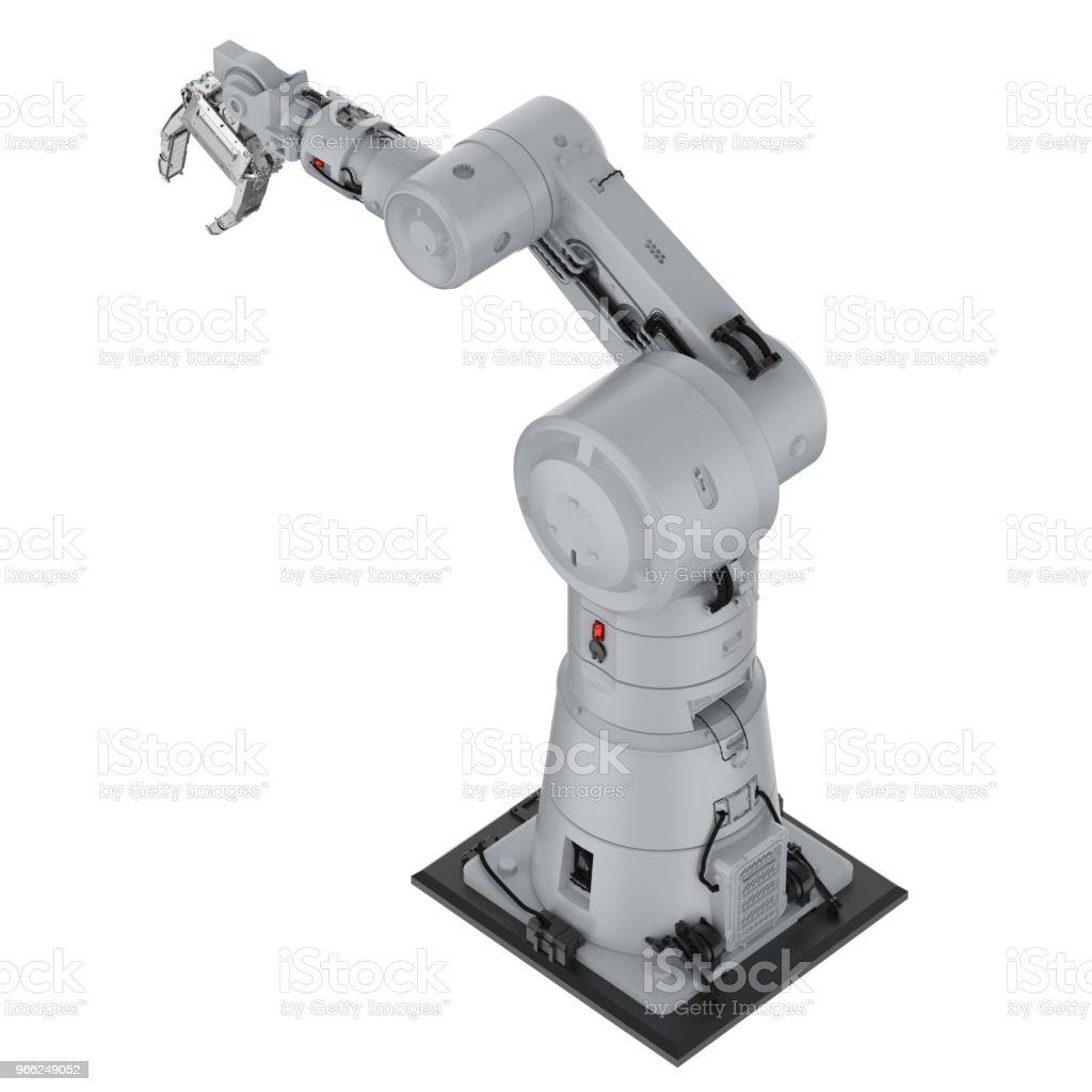 로봇 팔 또는 로봇 손 스톡 사진