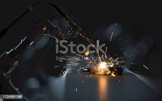Robotic arm welding