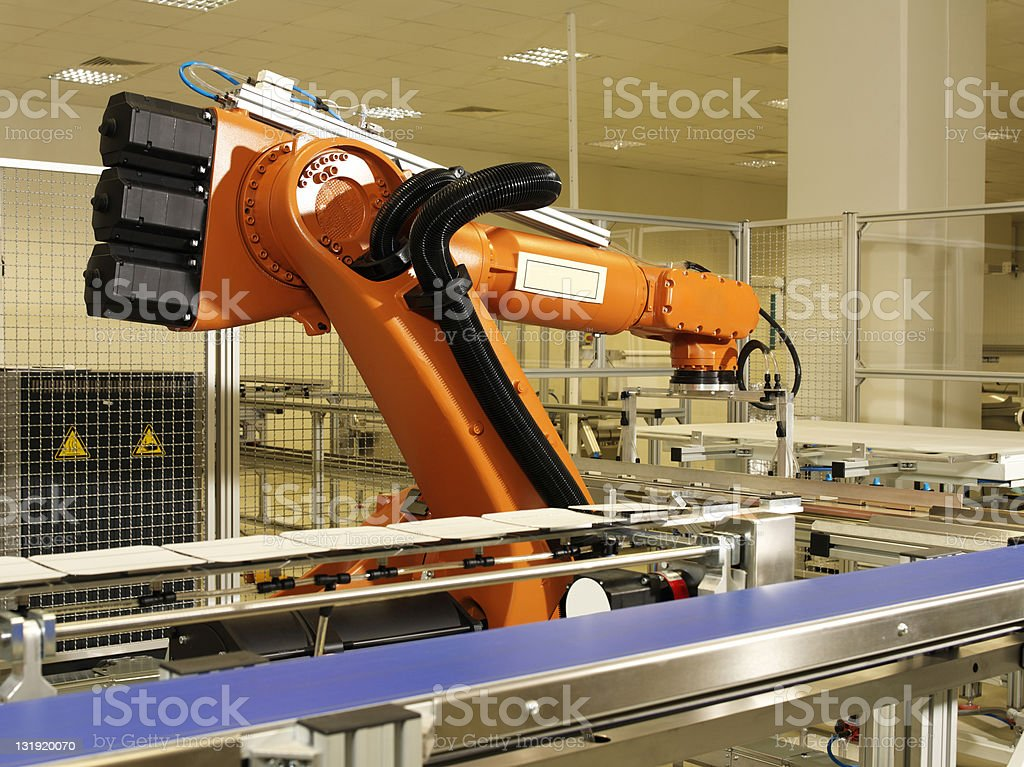 Robotic arm royalty-free stock photo