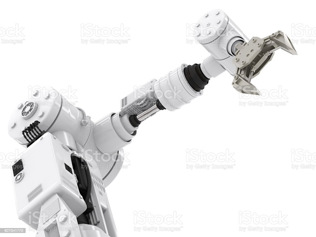 robotic arm stock photo