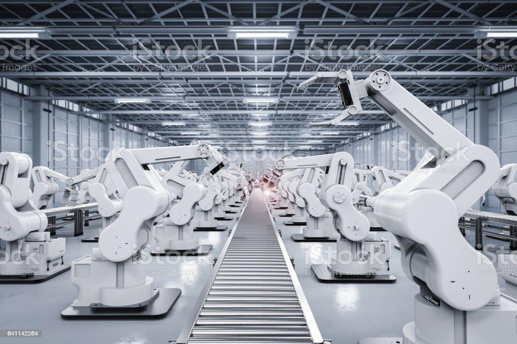 Roboterarm mit Förderstrecke – Foto