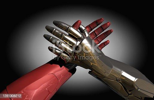 1050855372 istock photo Robotic Arm Wrestling 1251305212