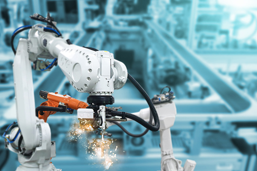 Robotic arms, industrial robots, factory automation machines