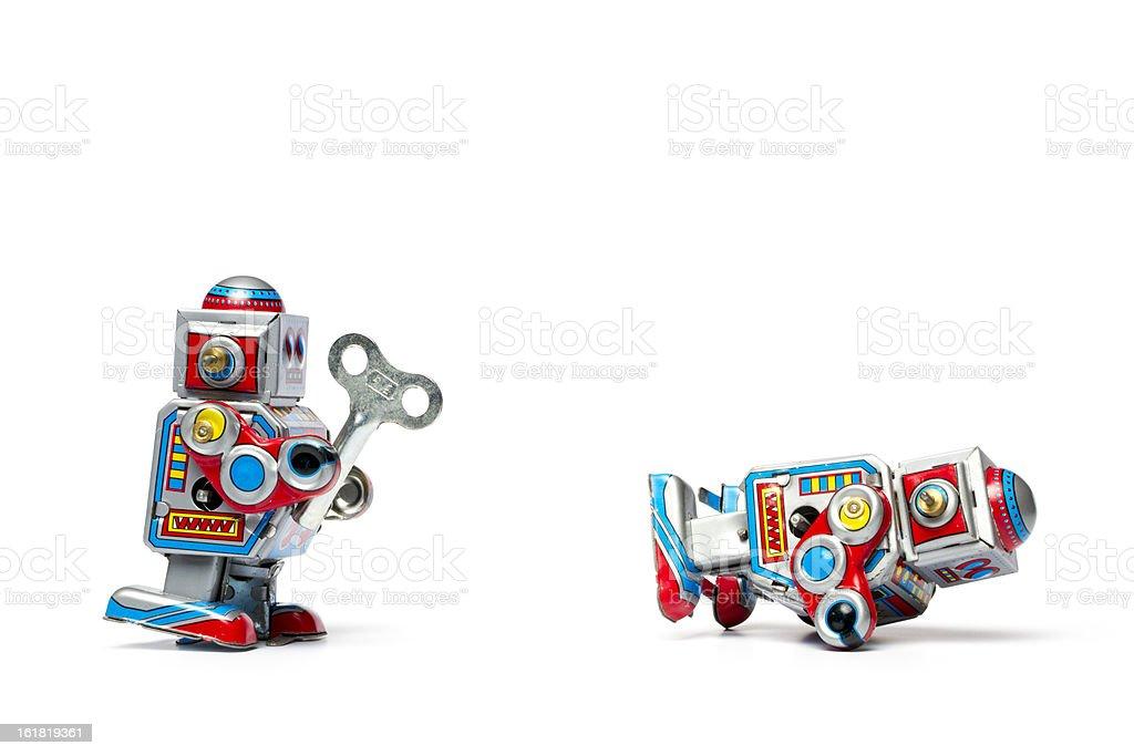 Industrieroboter-Hilfe-Roboter Tin Spielzeug Retro-Hilfe Humor – Foto