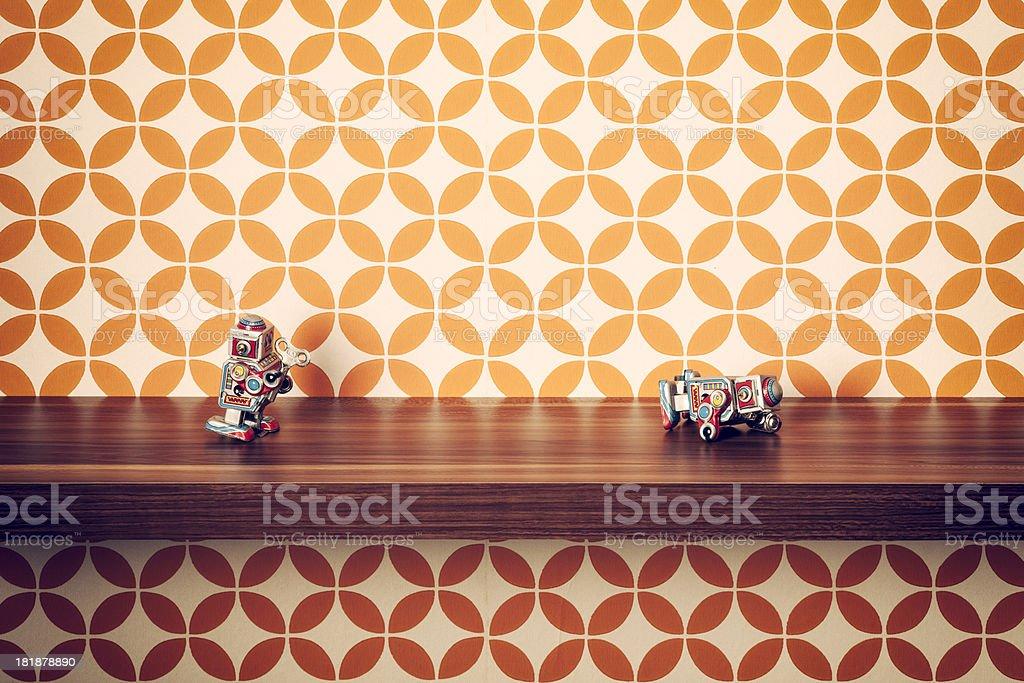 Conceptual photography with retro tin robots.