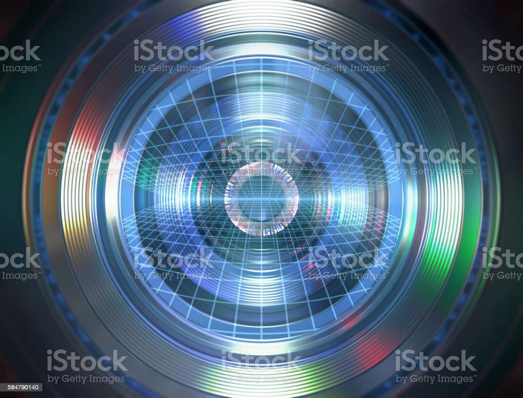 Robotic Eye stock photo